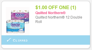 $1 off 1 quilted northern toilet paper coupon