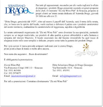 La ditta Sebastiano Drago distribuisce i propri prodotti in Italia e all'estero.