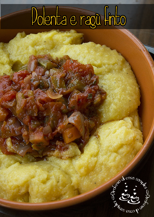 Polenta With Sugo Finto Recipe — Dishmaps