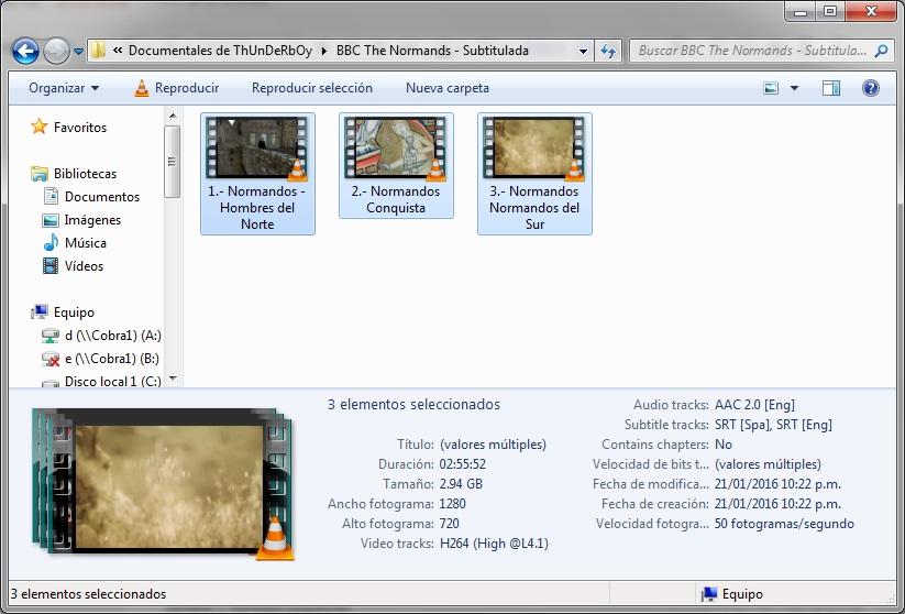 BBC|3GB|Normandos|HD 720p|VOSE|3-3|MEGA|Taykun7000