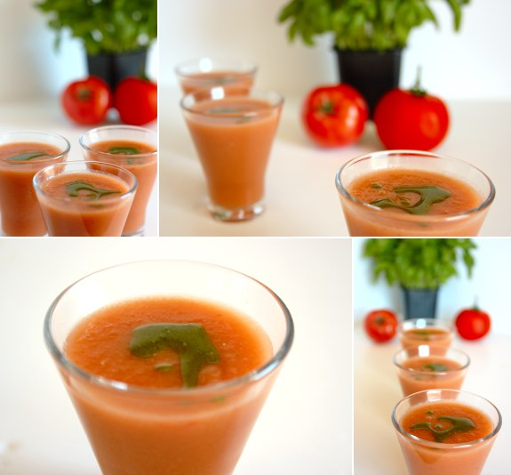 Five Quarters of the Orange: Tomato and watermellon chilled soup
