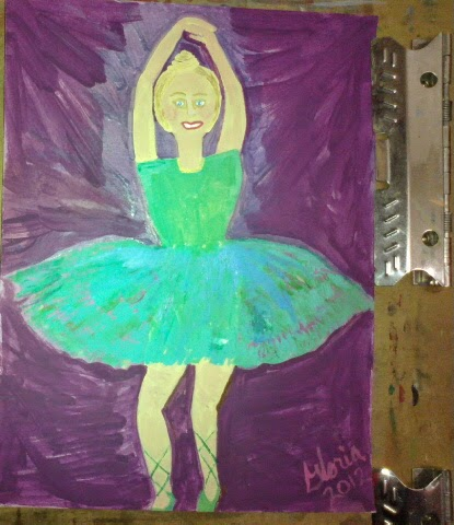 Ballerina re-do sketch 2 by Gloria Poole of Missouri; yr 2012