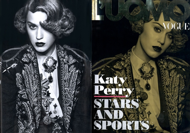 Katy Perry appears dressed as a bullfighter for the cover of L'Uomo Vogue photo 1