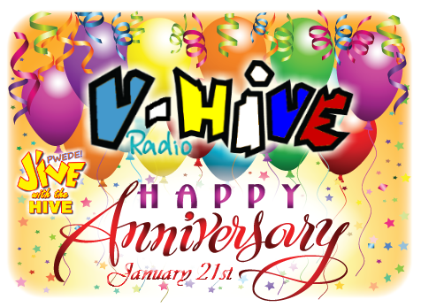 Happy One Year Anniversary V-Hive Radio