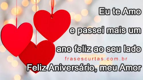 Frases De Feliz Aniversário Meu Amor Frases Curtas