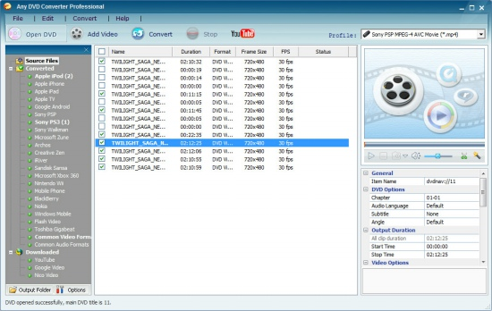 Any DVD Converter Professional 5.8.40 Screenshot