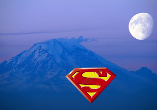 Superman free wallpapers Superman Logo in Classic Ascent Moon background
