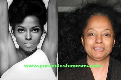 Fotografía de Diana Ross antes y después