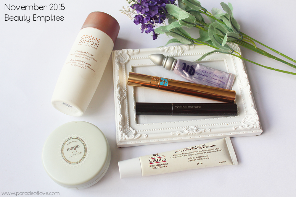 November 2015 Beauty Empties