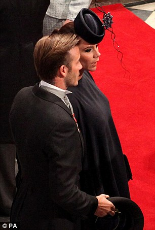 david beckham royal wedding. Victoria Beckham chose the