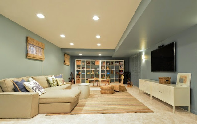 interior paint colors for basements. Black Bedroom Furniture Sets. Home Design Ideas