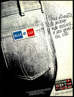 propaganda jeans Elle et Lui - 1979; moda anos 70;
