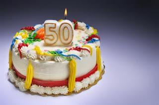 Beautiful 50th Birthday Cake