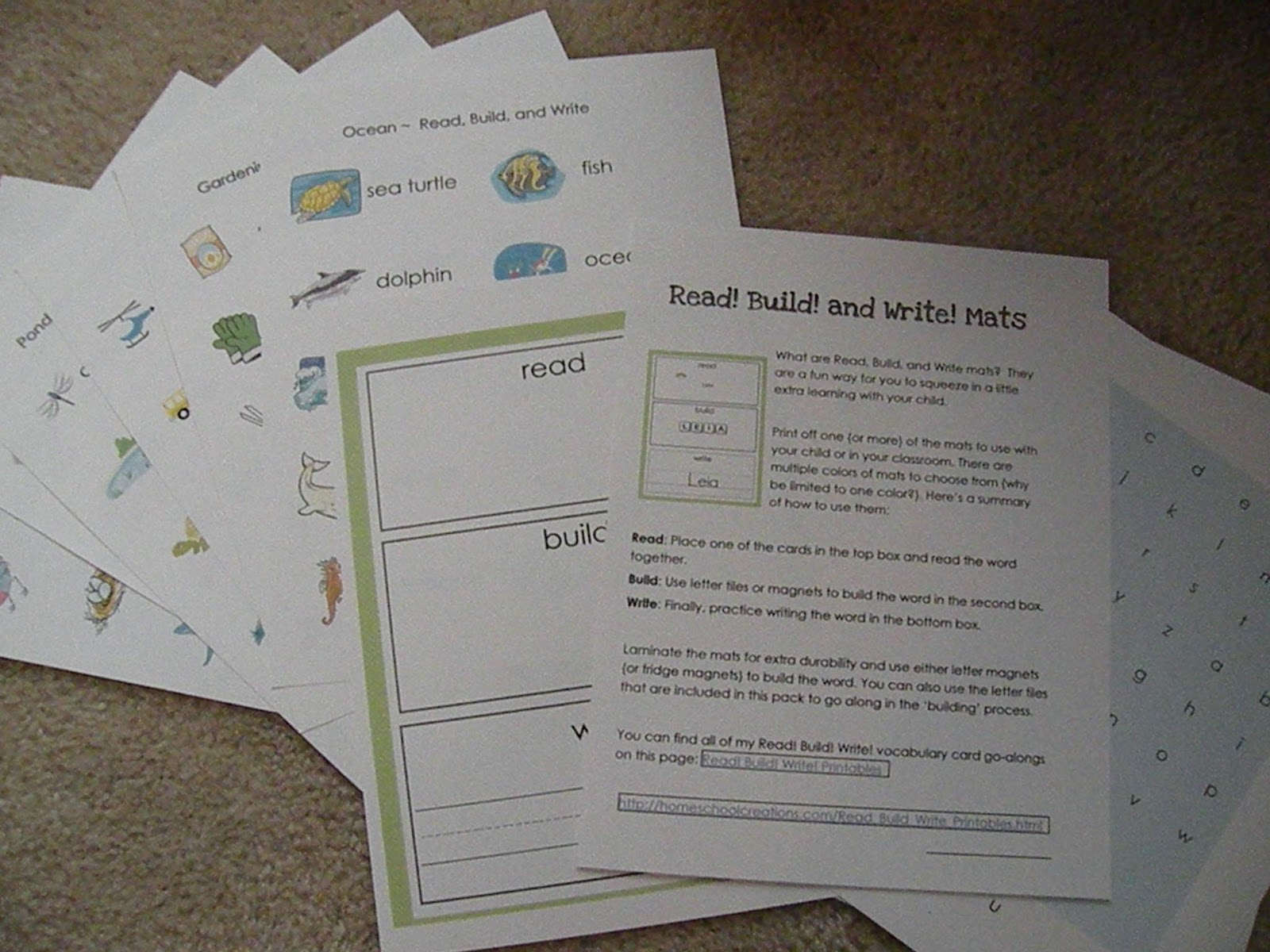 Http Homeschoolcreations Com Read Build Write Printables Html