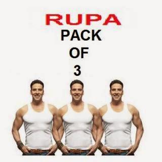 Rupa sleeveless vest - set of 3 worth Rs. 299 @ 103 at Shopclues