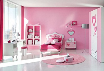 beauty with pink color room and best design room with many ornament best carpet make more comfortable for child - Bedroom Colors 2012