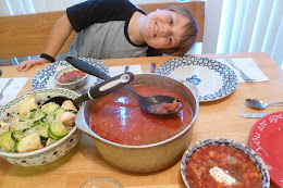 Russian Meal (Borscht and pierogies)