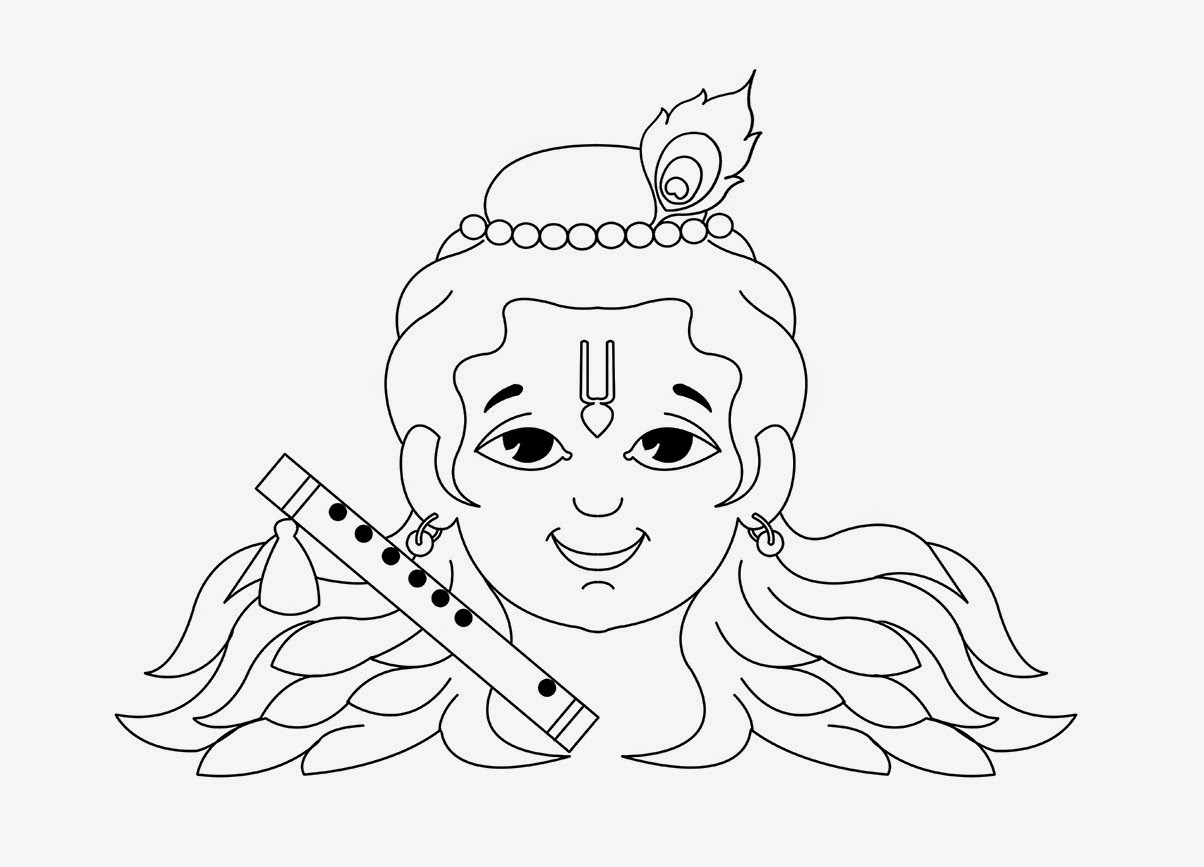 colour hd wallpapers little krishna coloring page - Baby Krishna Images Coloring Pages