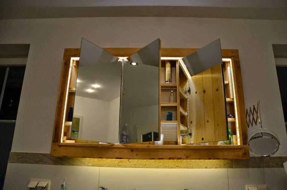 Muebles Para Baño Hechos Con Palets: net: Mueble para el lavamanos y espejo realizado con palets