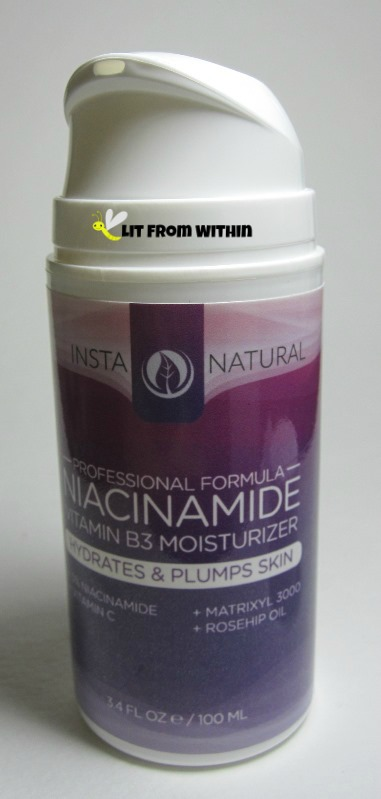 Insta-Natural Niacinamide Vitamin B3 Moisturizer pump dispenser