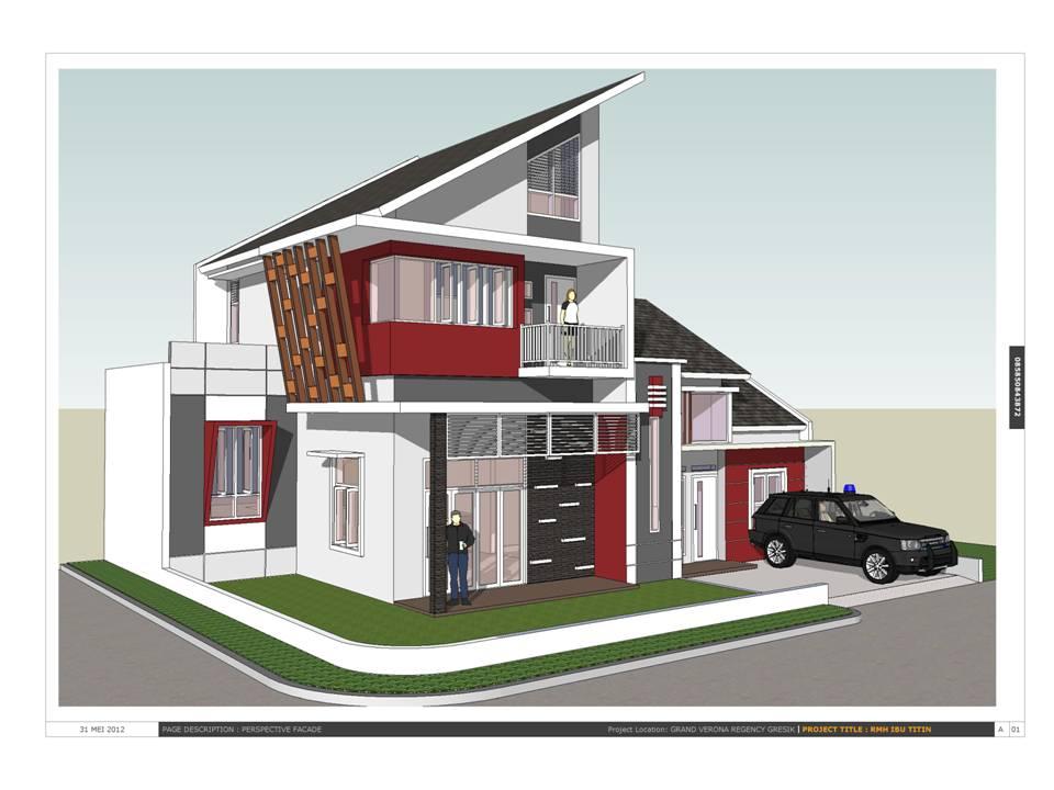 Aqis Studio Jasa Desain Rumah Online Arsitek Hook Pojok Minimalis