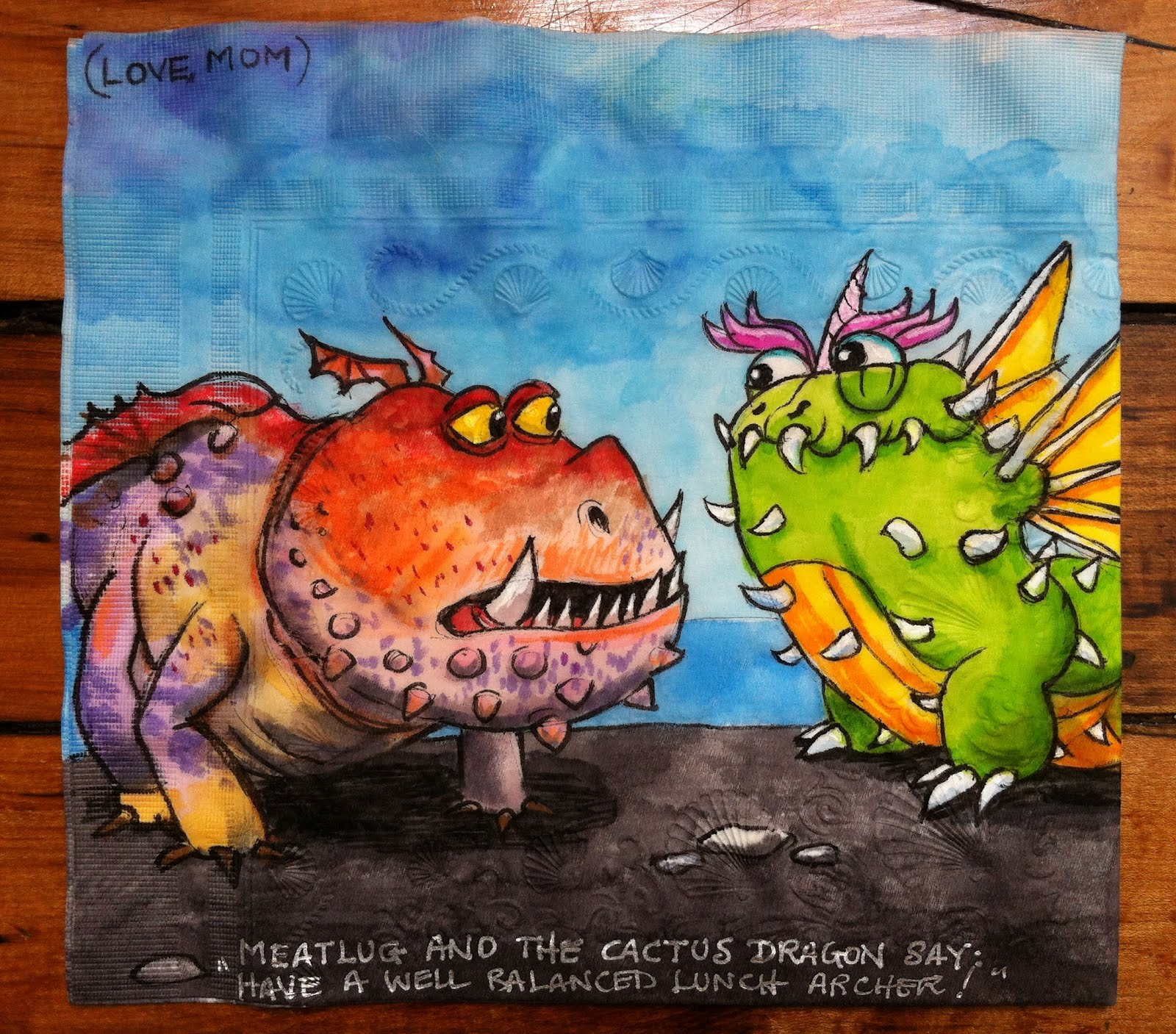 Meatlug And The Dragonvale Cactus Dragon For Archer