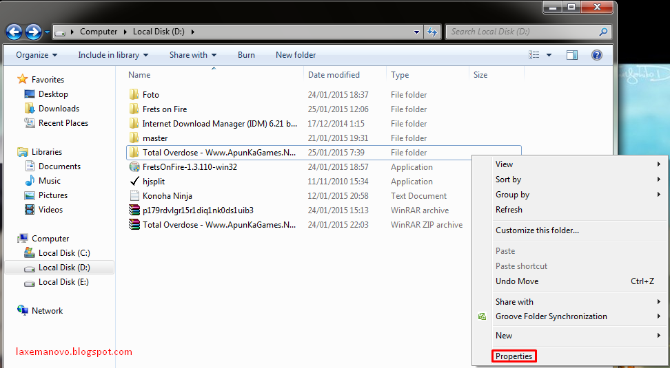 Cara Menyembunyikan Folder dan File di Windows 7