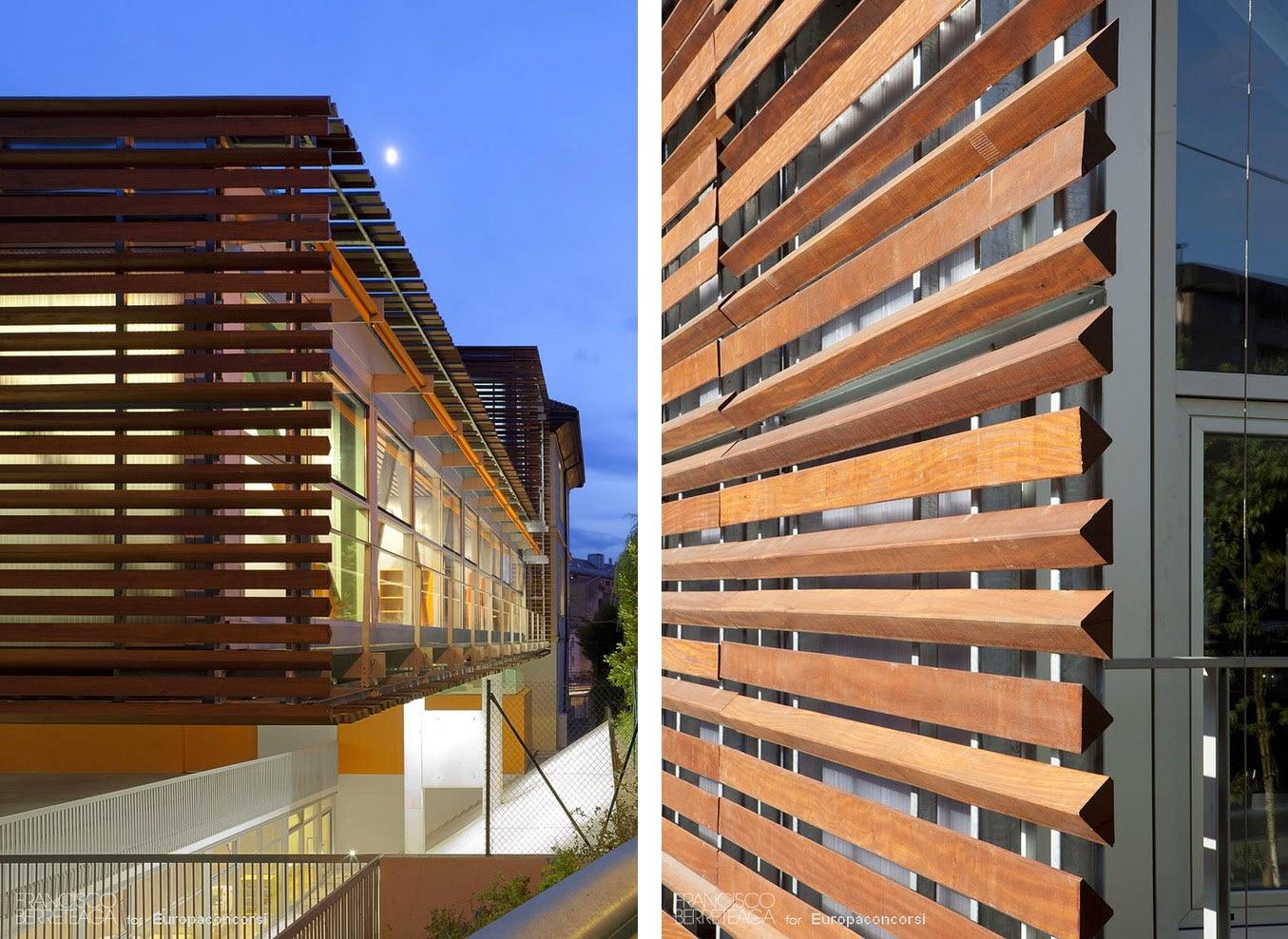 Colegio gandasegi francisco berreteaga espacios en madera for Celosias en madera
