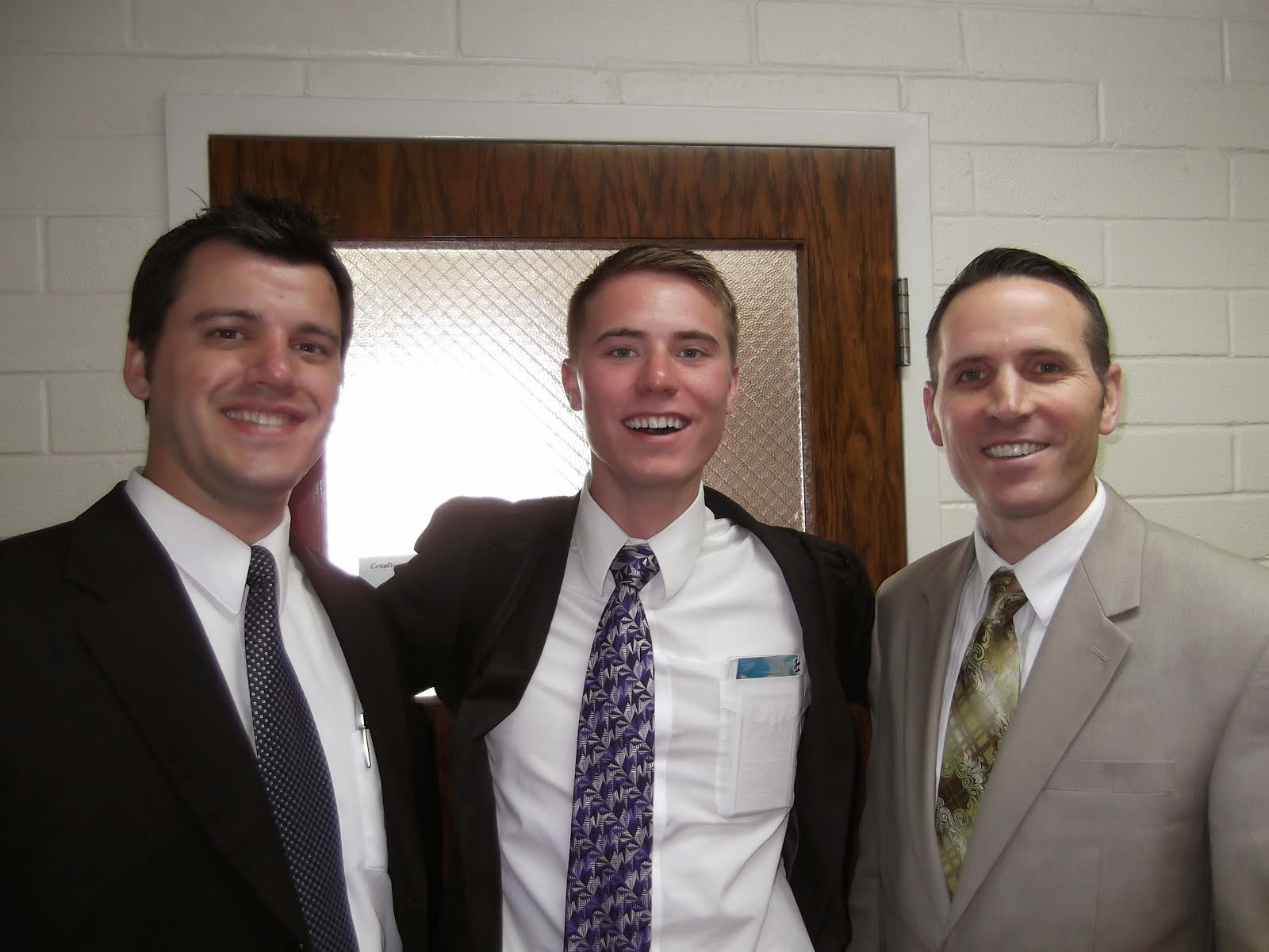 Brother Ratcliff & Brother Burbidge with Elder Foster