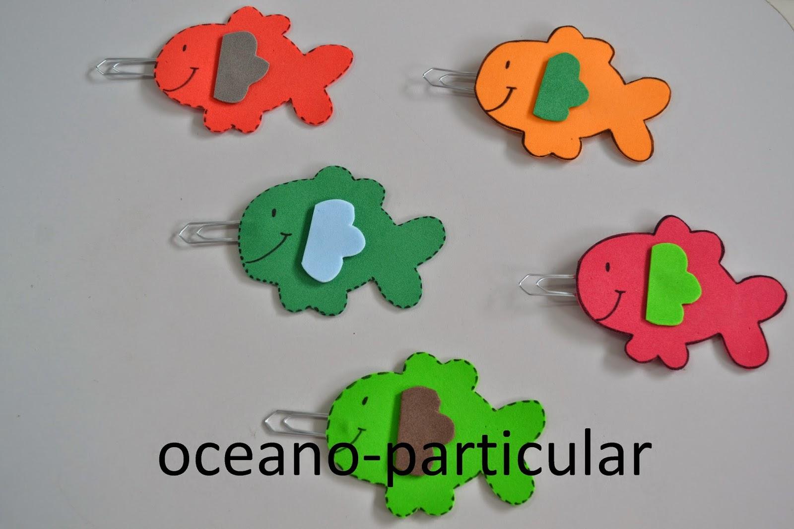 Oceano particular como fazer jogo de pescaria em eva for Mural de isopor e eva