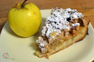 Tarta crumble de manzana.