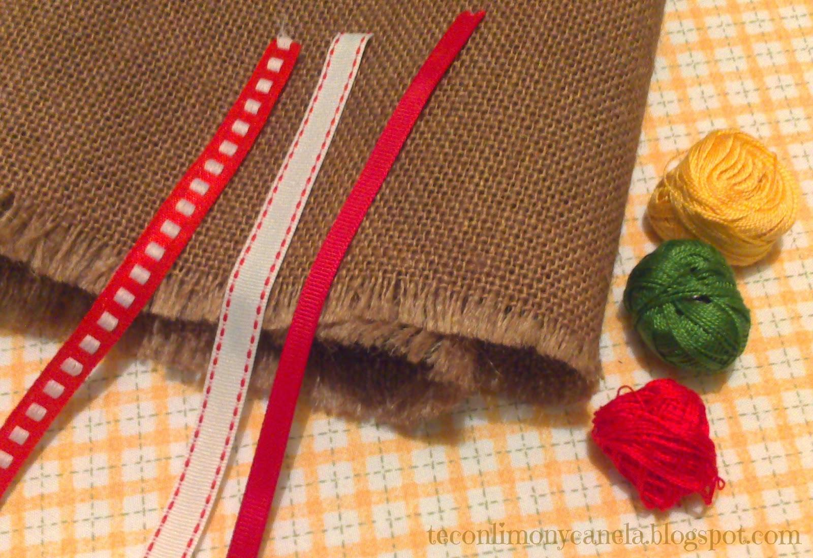 Manteles navidenos aprender manualidades es - Saco de arpillera ...