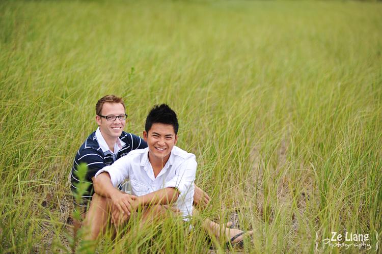 same-sex engagement session castle island boston ben&justin 10