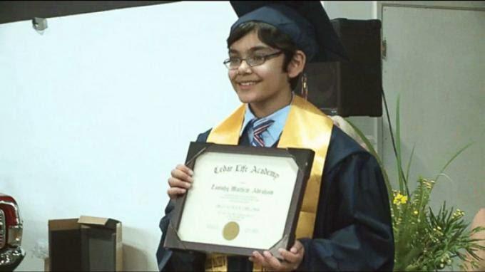 Anak Berusia 10 Tahun Sudah Berhasil Lulus Dari SMA