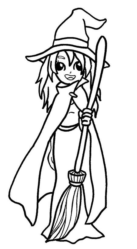 desenho de bruxinha para colorir desenho infantil para colorir