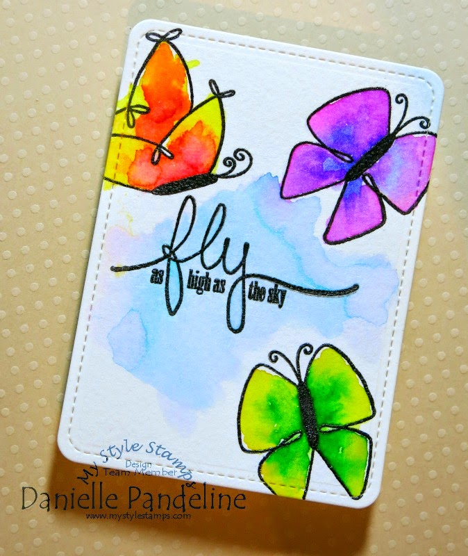 Fly High Pocket Card by Danielle Pandeline | for My Style Stamps