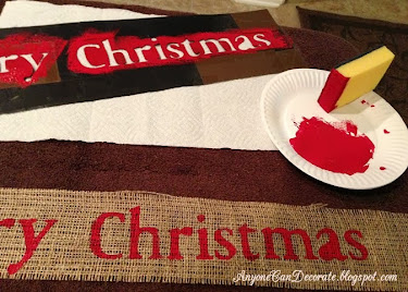 DIY Burlap Christmas Garland