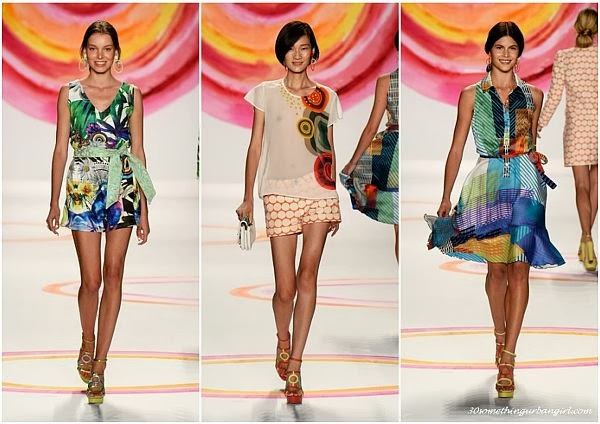 Desigual S/S2014 runway dresses