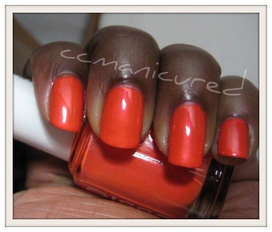 ManiCured!: 31 Days Of Manis: Day 2, Orange Nails: Essie