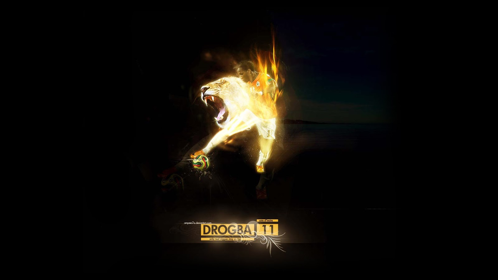 Didier Drogba Lion Wallpaper