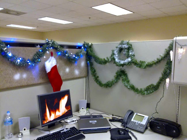 office cubicle christmas decorating ideas - Office Cubicle Christmas Decorations