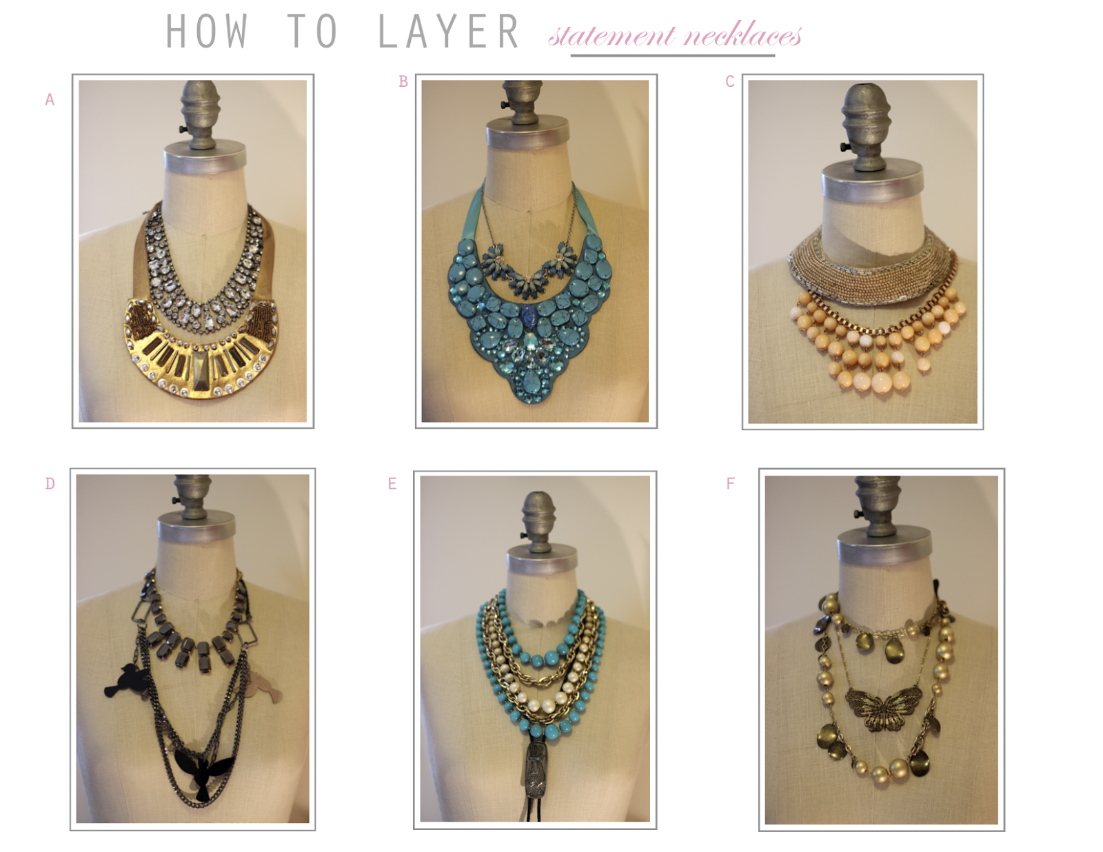 how to pack statement necklaces