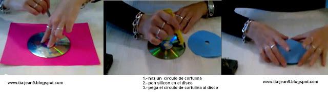 PASO A PASO CON JEANNINE: COMO HACER UN RELOJ CON CD que hacer con