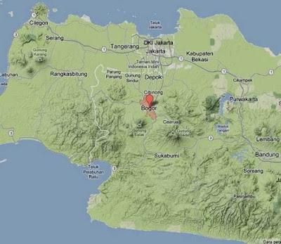 Peta bogor map untuk kota bogor dan kabupaten bogor