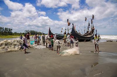 Fisherman in Cox's Bazar Sea Beach