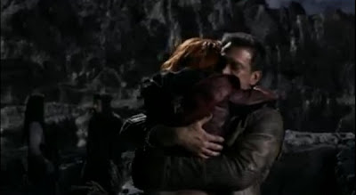Defiance pilot Irisa Nolan hug Stephanie Leonidas Grant Bowler battle leather jackets images screencaps