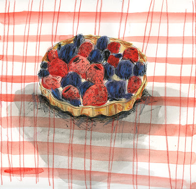 Berry Tart from Pie: A Hand Drawn Almanac by Emily Hilliard, Illustrated by Elizabeth Graeber