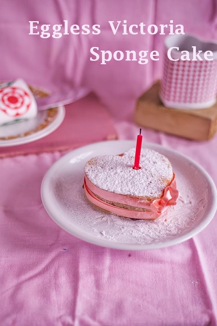 Mini Eggless Victoria Sponge Cake