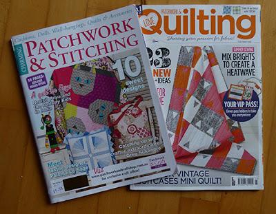 Patchwork og Quilting blade købt hos Creative Quilting i England