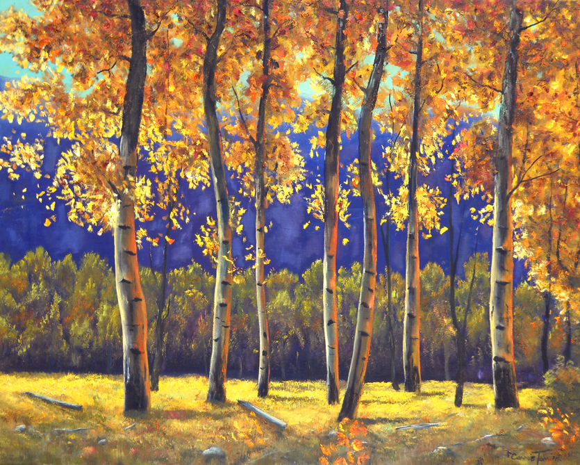 A painting for you autumn glow 24 x30 original oil for Autumn tree painting